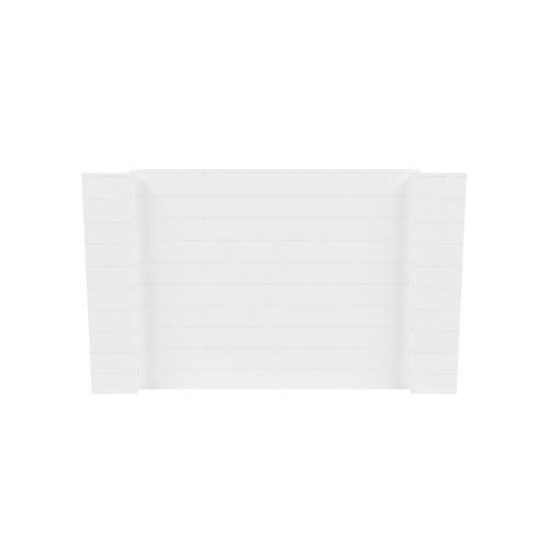 8' x 5' White Simple Block Wall Kit