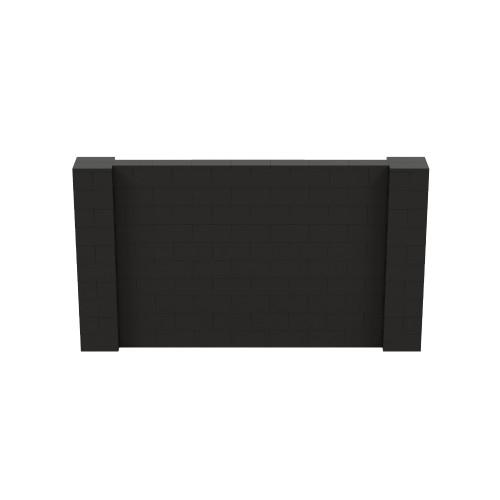 9' x 5' Black Simple Block Wall Kit