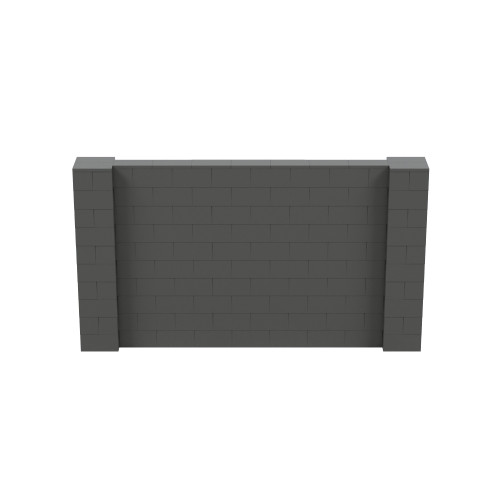 9' x 5' Dark Gray Simple Block Wall Kit