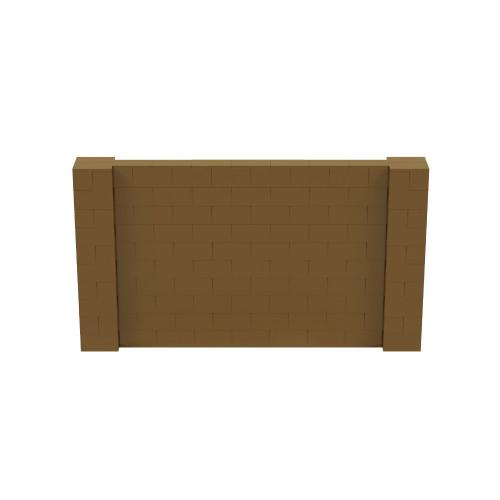 9' x 5' Gold Simple Block Wall Kit