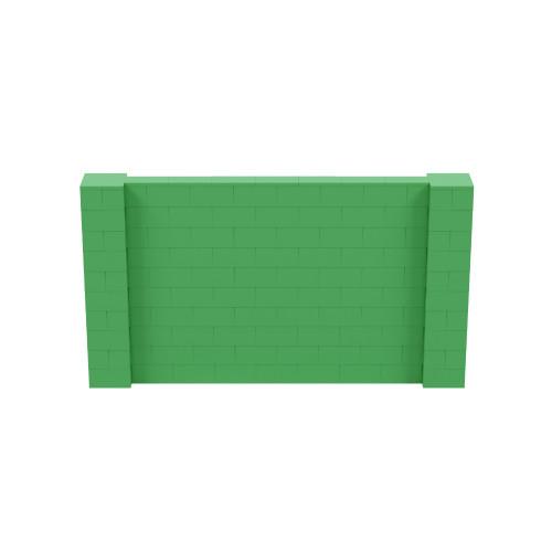 9' x 5' Green Simple Block Wall Kit
