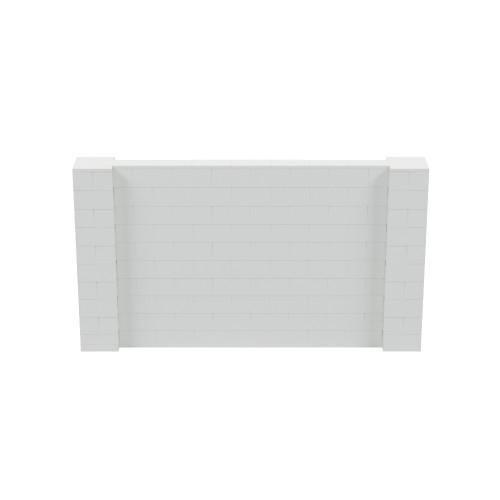 9' x 5' Light Gray Simple Block Wall Kit