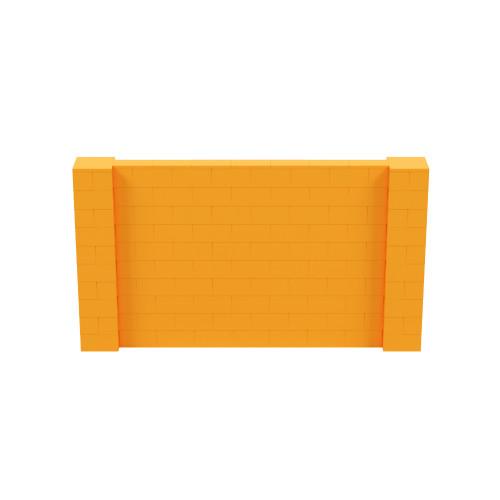 9' x 5' Orange Simple Block Wall Kit