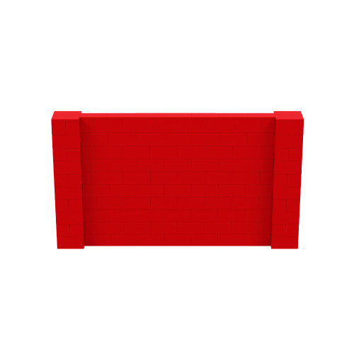 9' x 5' Red Simple Block Wall Kit