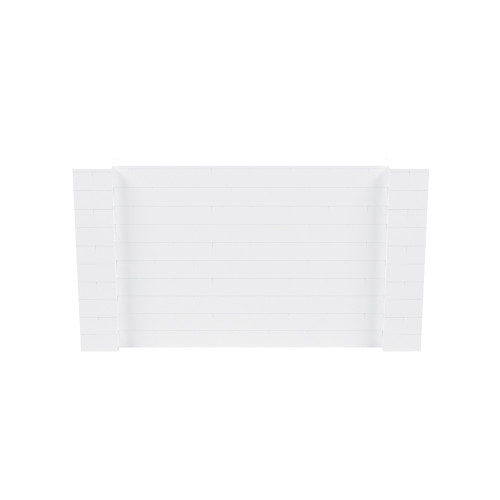 9' x 5' White Simple Block Wall Kit