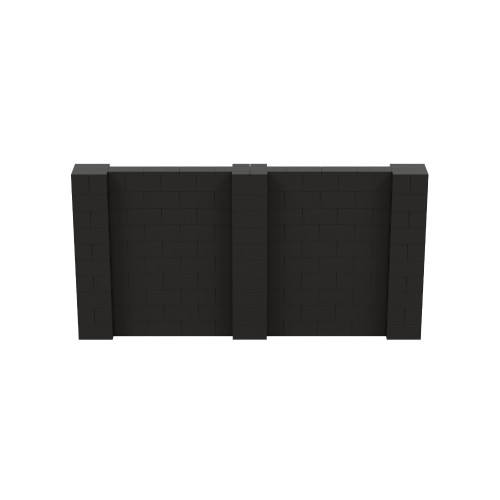 10' x 5' Black Simple Block Wall Kit
