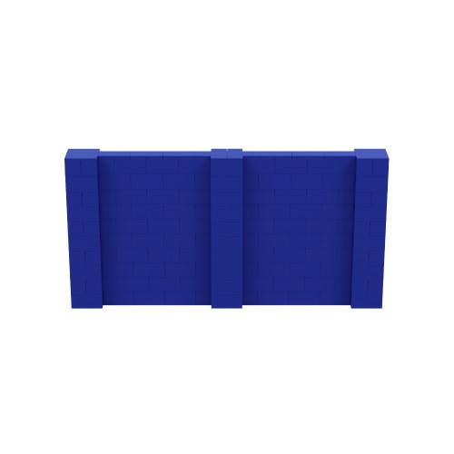 10' x 5' Blue Simple Block Wall Kit