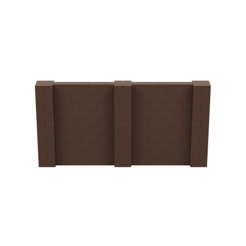 10' x 5' Brown Simple Block Wall Kit