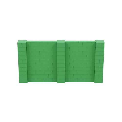 10' x 5' Green Simple Block Wall Kit