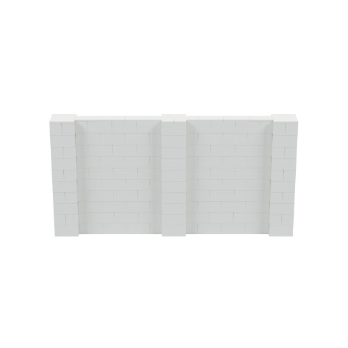 10' x 5' Light Gray Simple Block Wall Kit