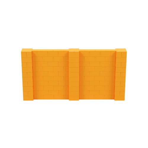 10' x 5' Orange Simple Block Wall Kit