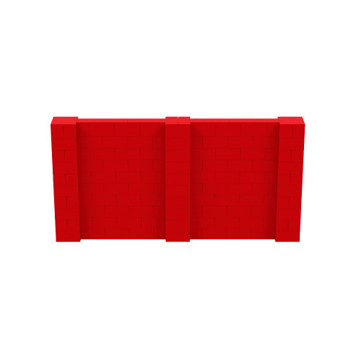 10' x 5' Red Simple Block Wall Kit