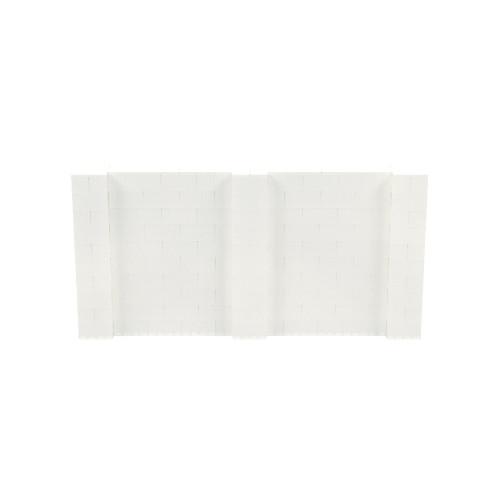 10' x 5' Translucent Simple Block Wall Kit