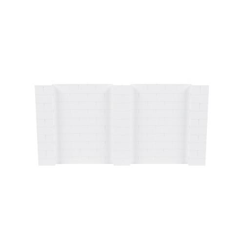 10' x 5' White Simple Block Wall Kit