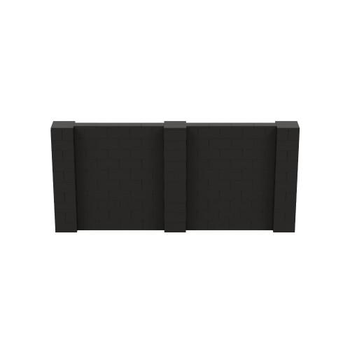 11' x 5' Black Simple Block Wall Kit