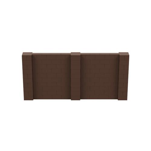 11' x 5' Brown Simple Block Wall Kit