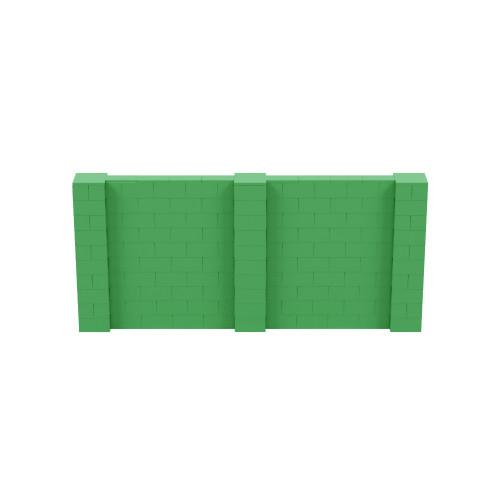11' x 5' Green Simple Block Wall Kit