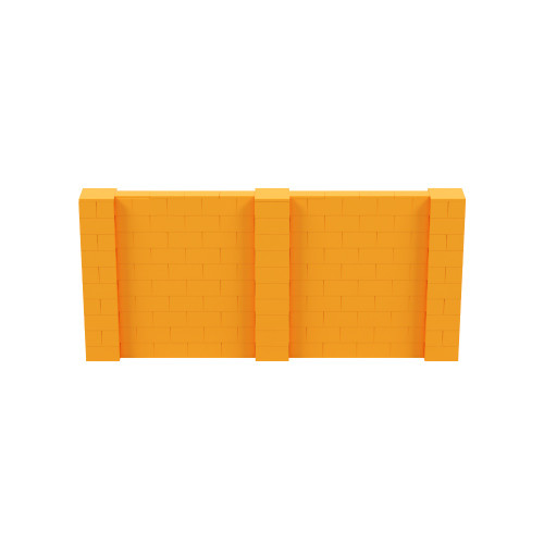 11' x 5' Orange Simple Block Wall Kit