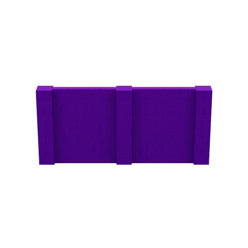 11' x 5' Purple Simple Block Wall Kit