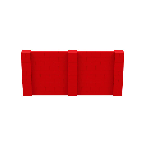11' x 5' Red Simple Block Wall Kit