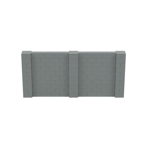11' x 5' Silver Simple Block Wall Kit