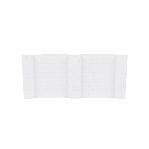 11' x 5' White Simple Block Wall Kit