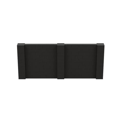 12' x 5' Black Simple Block Wall Kit