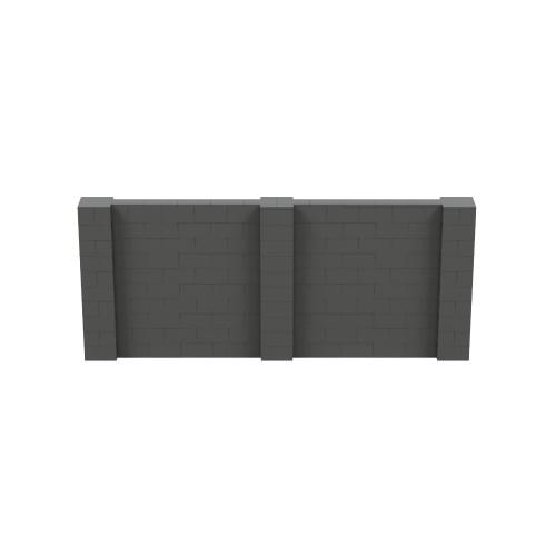 12' x 5' Dark Gray Simple Block Wall Kit