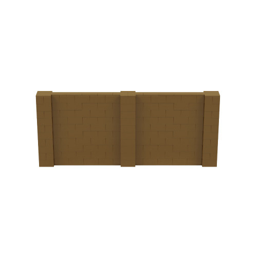 12' x 5' Gold Simple Block Wall Kit