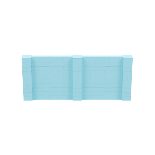 12' x 5' Light Blue Simple Block Wall Kit