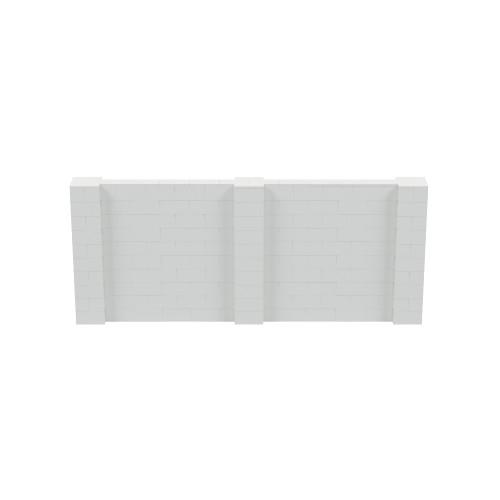 12' x 5' Light Gray Simple Block Wall Kit