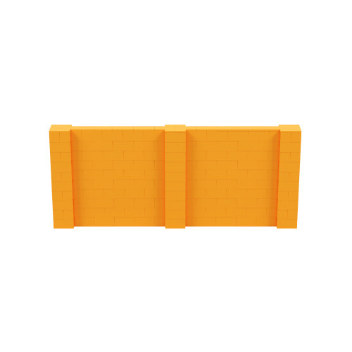 12' x 5' Orange Simple Block Wall Kit