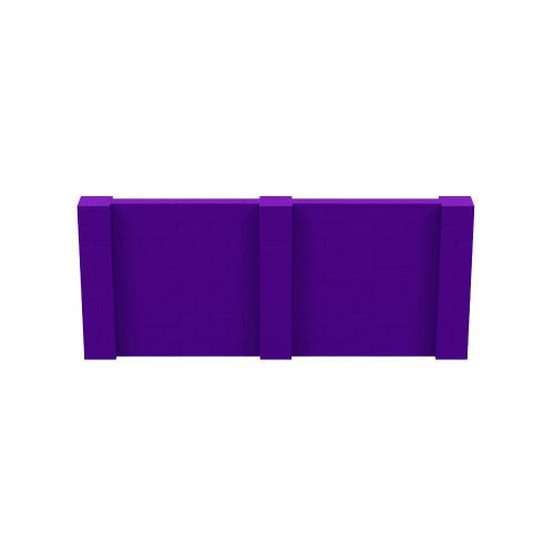 12' x 5' Purple Simple Block Wall Kit