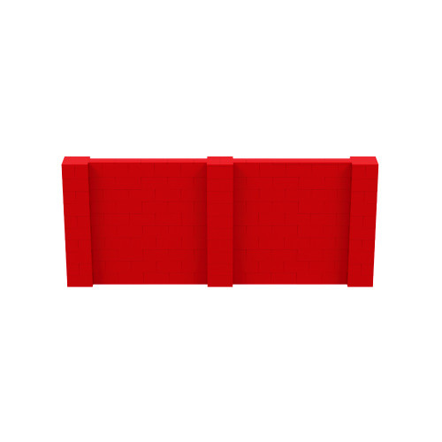 12' x 5' Red Simple Block Wall Kit