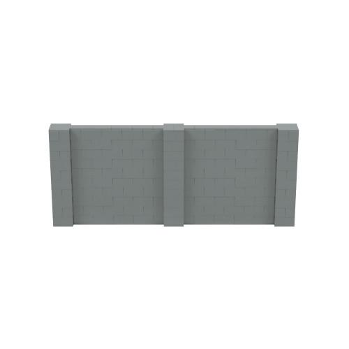 12' x 5' Silver Simple Block Wall Kit