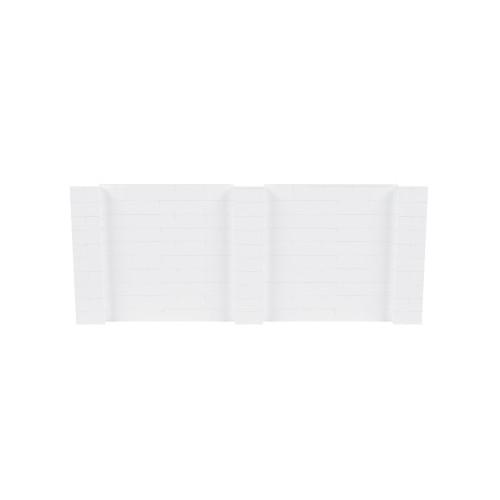 12' x 5' White Simple Block Wall Kit