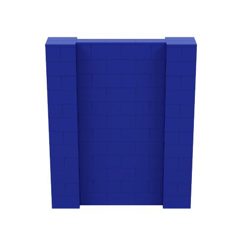 5' x 6' Blue Simple Block Wall Kit