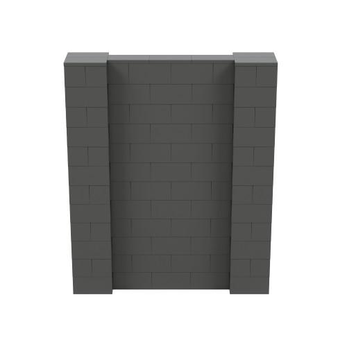 5' x 6' Dark Gray Simple Block Wall Kit