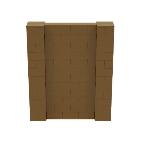 5' x 6' Gold Simple Block Wall Kit