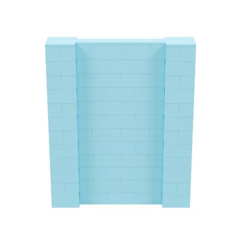 5' x 6' Light Blue Simple Block Wall Kit