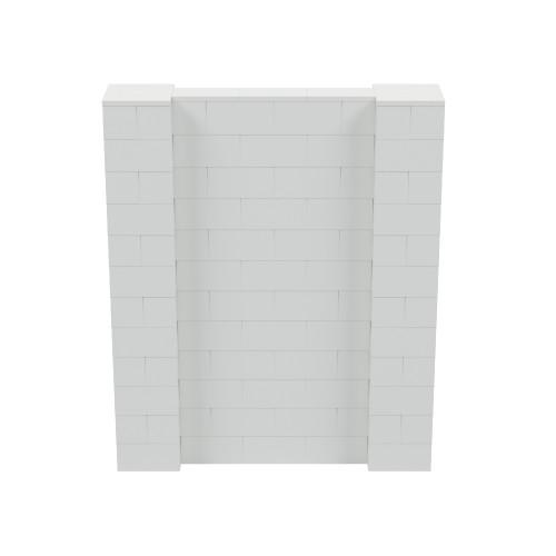 5' x 6' Light Gray Simple Block Wall Kit