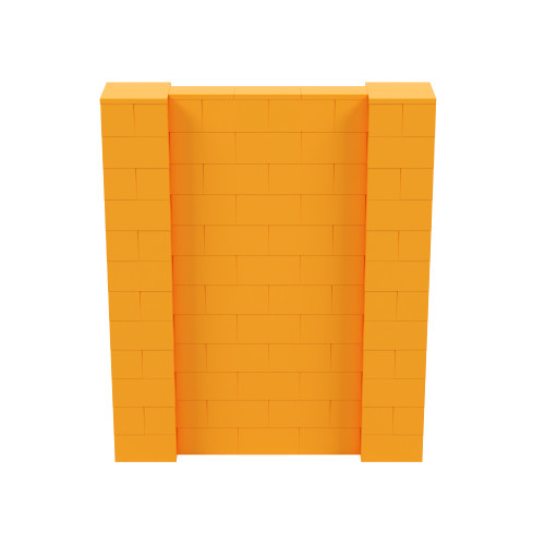 5' x 6' Orange Simple Block Wall Kit