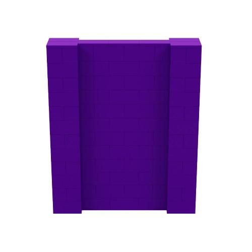 5' x 6' Purple Simple Block Wall Kit