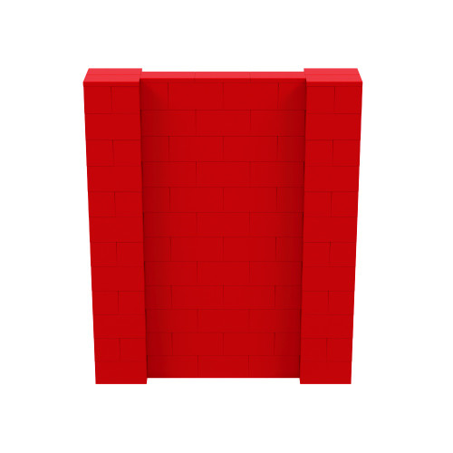 5' x 6' Red Simple Block Wall Kit