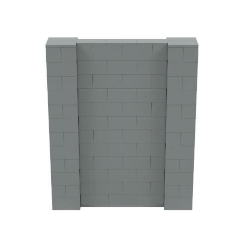 5' x 6' Silver Simple Block Wall Kit