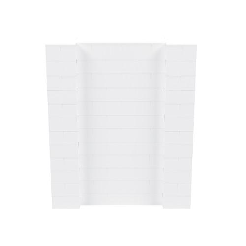 5' x 6' White Simple Block Wall Kit