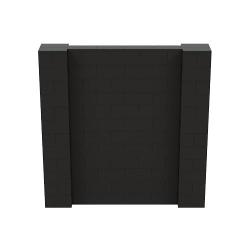 6' x 6' Black Simple Block Wall Kit