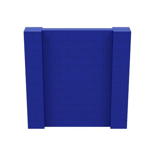 6' x 6' Blue Simple Block Wall Kit
