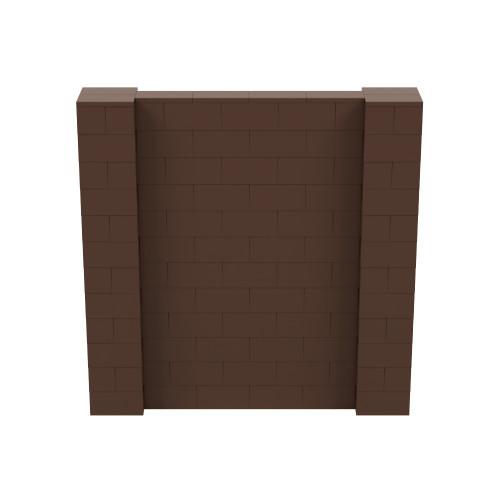 6' x 6' Brown Simple Block Wall Kit