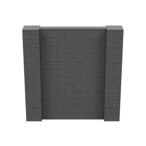 6' x 6' Dark Gray Simple Block Wall Kit